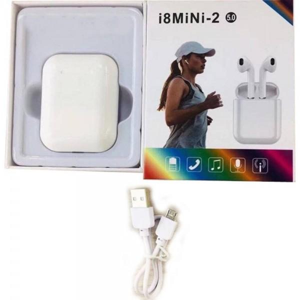 Ασύρματα Ακουστικά i8MINI-2 TWS Bluetooth Ver 5.0 - Λευκό