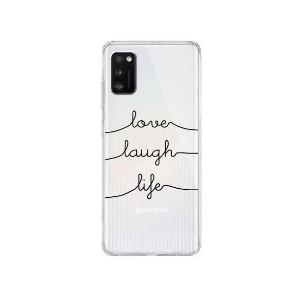 Θήκη TPU inos Samsung A415F Galaxy A41 Art Theme Love-Laugh-Life