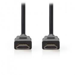 Καλώδιο HDMI αρσ. - HDMI αρσ. με επίχρυσες επαφές, 1,0 m.  NEDIS CVGT34001BK10