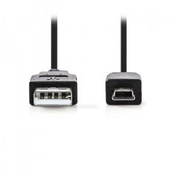 Καλώδιο USB 2.0 A αρσ. - Mini 5-pin αρσ., 2m.