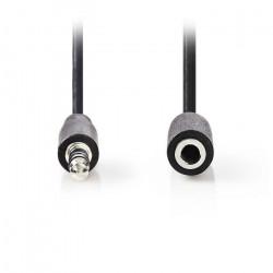 Καλώδιο ήχου 3,5mm αρσ. Stereo - 3,5mm Stereo θηλ., 5m.